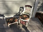 Antique Chair and Footstool