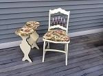 Antique Chair and Vintage Table