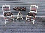 Pair of Antique Chairs and Table