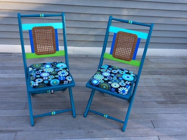 Pair of Anitque  Folding Chairs